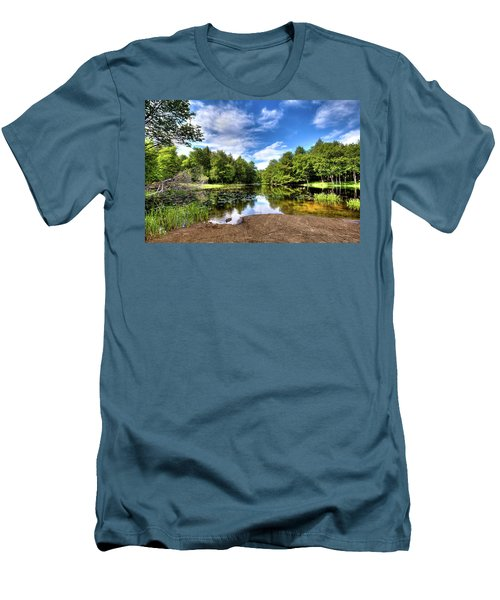 Men's T-Shirt (Athletic Fit) featuring the photograph The Moose River At Covewood by David Patterson