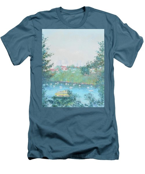 The Mosman Bay Ferry And Sydney Skyline Men's T-Shirt (Athletic Fit)