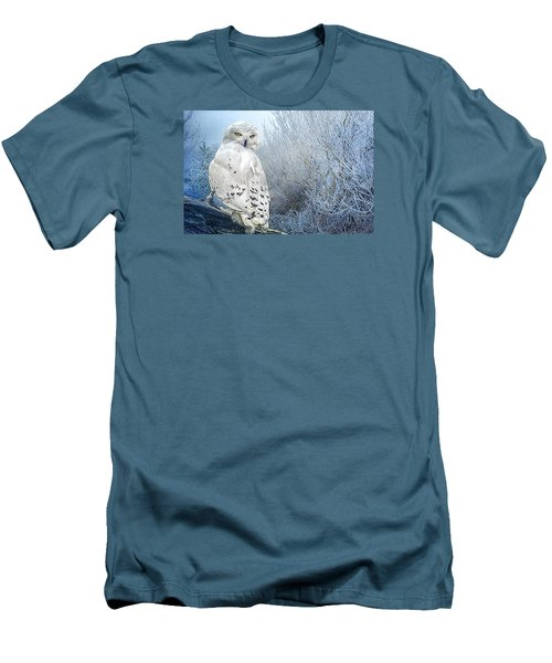 The Mystical Snowy Owl Men's T-Shirt (Athletic Fit)