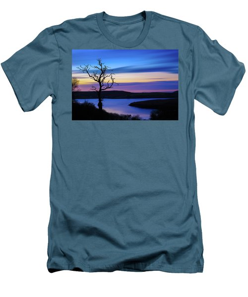 Men's T-Shirt (Slim Fit) featuring the photograph The Naked Tree At Sunrise by Semmick Photo