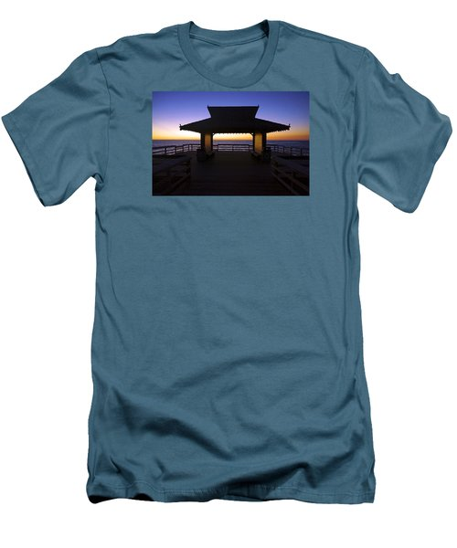 The Naples Pier At Twilight - 02 Men's T-Shirt (Slim Fit) by Robb Stan
