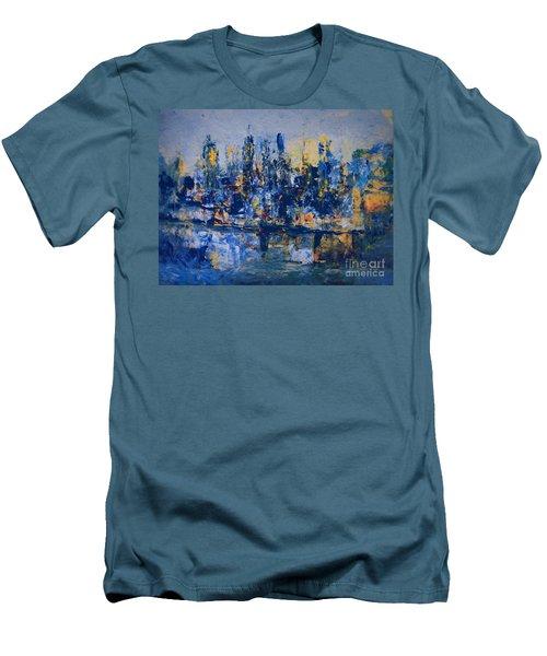 The Night City Men's T-Shirt (Slim Fit) by Nancy Kane Chapman