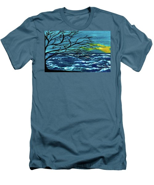 The Ocean Men's T-Shirt (Slim Fit) by Saribelle Rodriguez