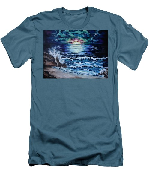 The Ocean Sings The Sky Listens Men's T-Shirt (Slim Fit) by Cheryl Pettigrew