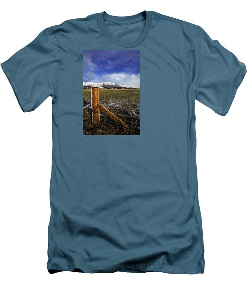 Men's T-Shirt (Slim Fit) featuring the photograph The Ochils In Winter by Jeremy Lavender Photography