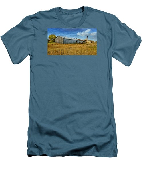 Men's T-Shirt (Slim Fit) featuring the photograph The Old Peters Factory 01 by Kevin Chippindall