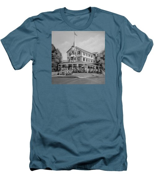 The Parker House Black And White Men's T-Shirt (Slim Fit) by Melinda Saminski