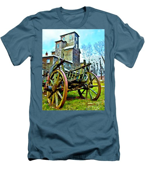 Men's T-Shirt (Slim Fit) featuring the photograph The Pottery - Bennington, Vt by Tom Cameron