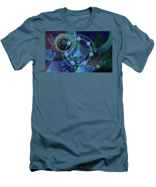 The Prism Of Time Men's T-Shirt (Slim Fit) by Kenneth Armand Johnson
