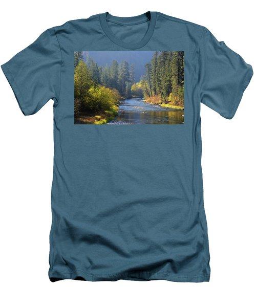 The River Runs Through Autumn Men's T-Shirt (Athletic Fit)