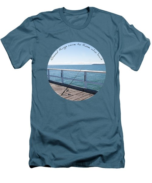 Men's T-Shirt (Slim Fit) featuring the photograph The Rod by Linda Lees