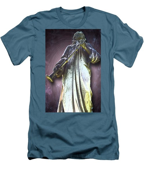 The Seventh Trumpet Men's T-Shirt (Slim Fit) by Lisa Brandel