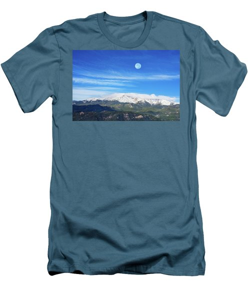The Skyscraper That Towers Over My Hometown Reaches The Clouds At 14115 Feet Above Sea Level.  Men's T-Shirt (Athletic Fit)