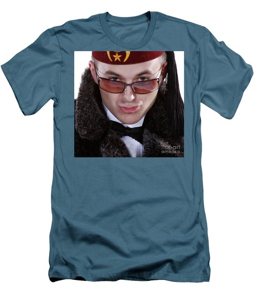 Men's T-Shirt (Slim Fit) featuring the photograph The Smarmy Russian by Xn Tyler
