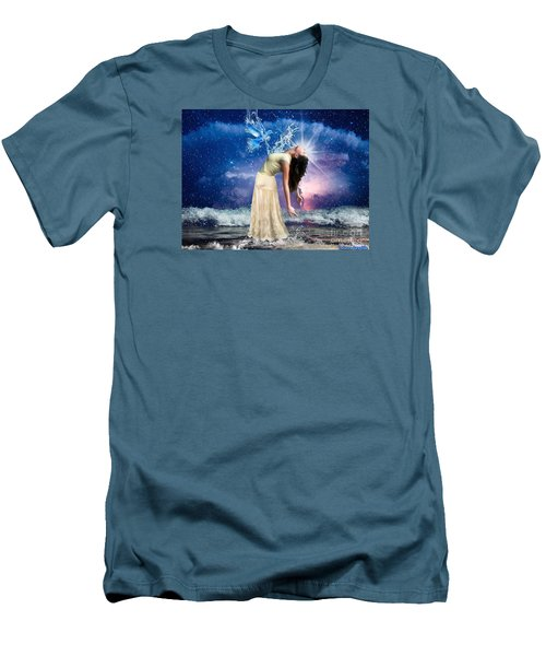 Men's T-Shirt (Slim Fit) featuring the digital art The Spirit Of Truth by Dolores Develde