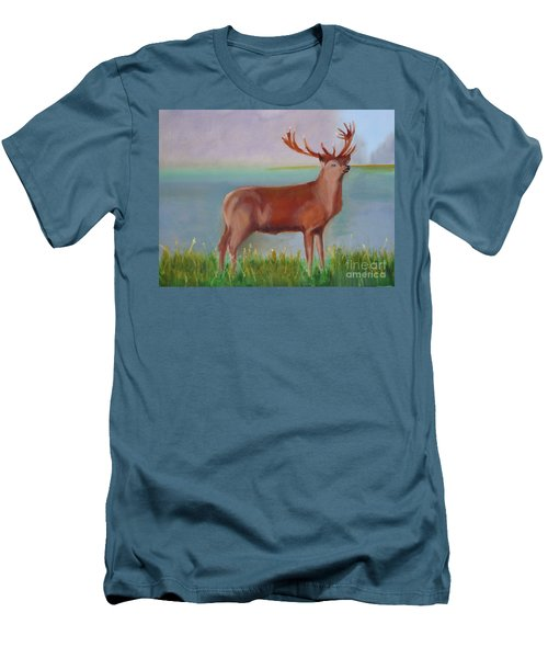 The Stag Men's T-Shirt (Slim Fit) by Rod Jellison