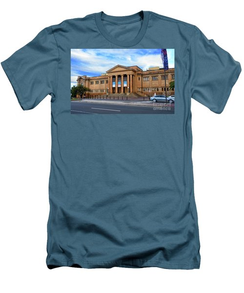 Men's T-Shirt (Athletic Fit) featuring the photograph The State Library Of New South Wales By Kaye Menner by Kaye Menner