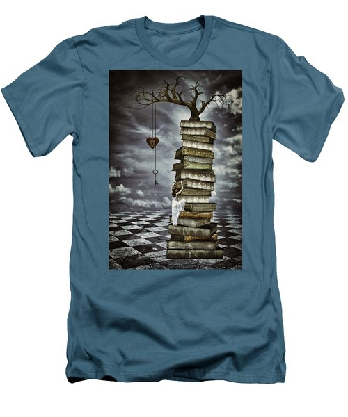 The Tree Of Love Men's T-Shirt (Slim Fit) by Mihaela Pater
