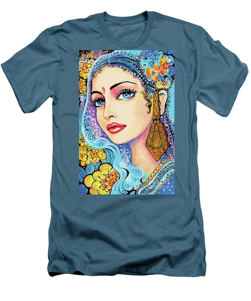 Men's T-Shirt (Slim Fit) featuring the painting The Veil Of Aish by Eva Campbell