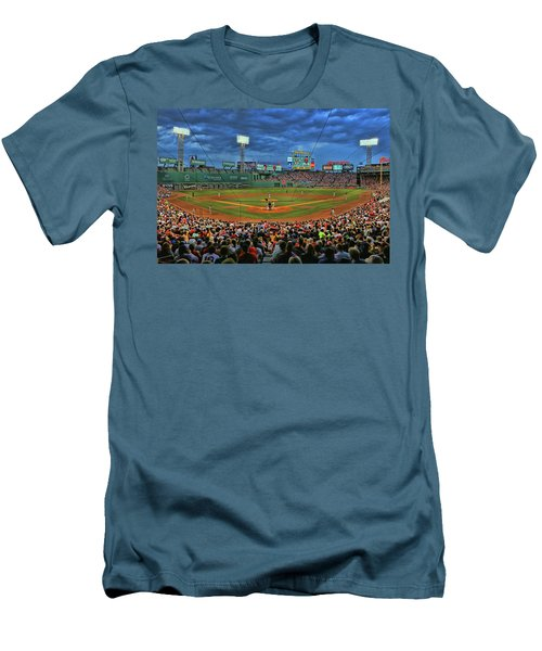 The View From Behind Home Plate - Fenway Park Men's T-Shirt (Athletic Fit)
