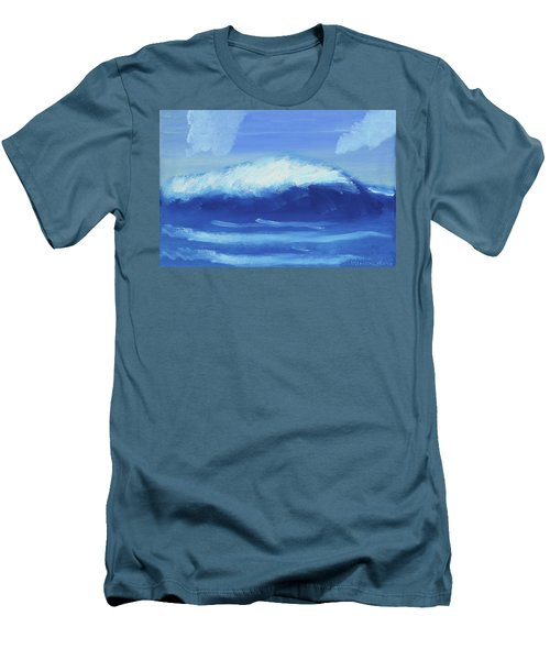 The Wave Men's T-Shirt (Slim Fit) by Artists With Autism Inc