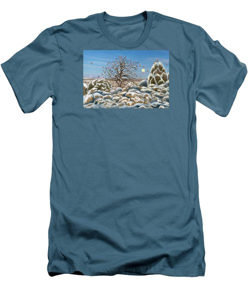 The Waxwing Tree Men's T-Shirt (Slim Fit) by Dawn Senior-Trask