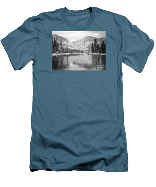 Men's T-Shirt (Slim Fit) featuring the photograph The Way Down- Journey by Janie Johnson