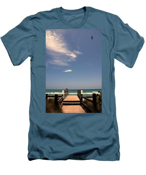 The Way Out To The Beach Men's T-Shirt (Slim Fit)