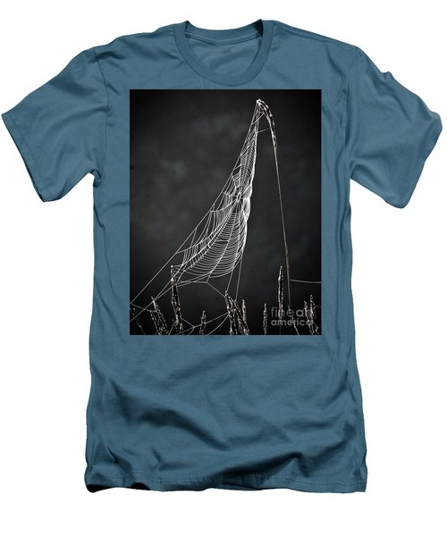Men's T-Shirt (Slim Fit) featuring the photograph The Web by Tom Cameron