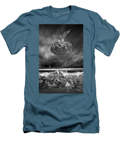 Men's T-Shirt (Slim Fit) featuring the photograph The Weight Is Lifted by Randall Nyhof