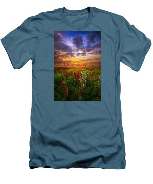 The Whispered Voice Within Men's T-Shirt (Slim Fit) by Phil Koch