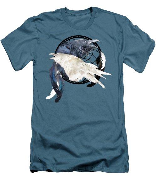 The White Raven Men's T-Shirt (Slim Fit) by Carol Cavalaris