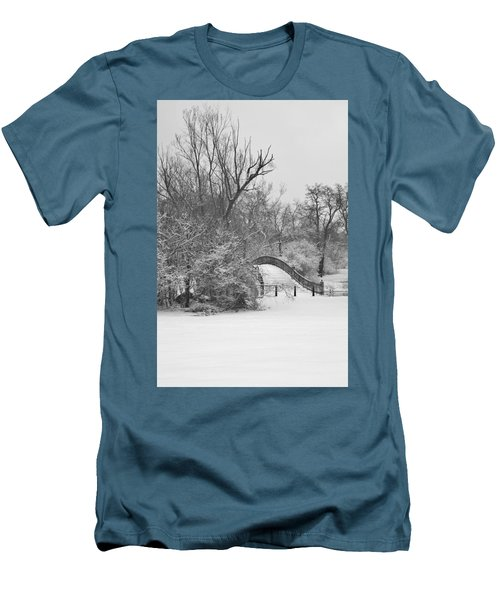 The Winter White Wedding Bridge Men's T-Shirt (Slim Fit) by Daniel Thompson