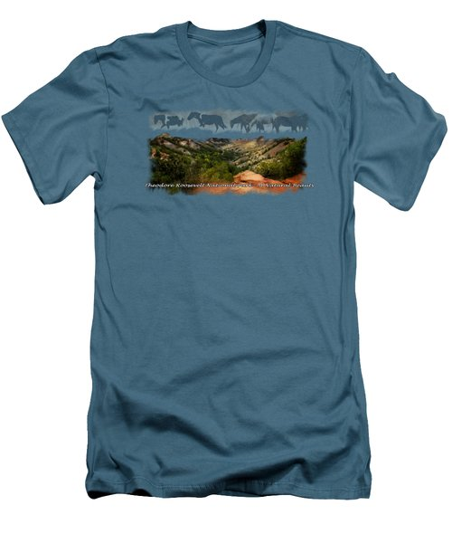 Theodore Roosevelt National Park Men's T-Shirt (Slim Fit) by Ann Lauwers
