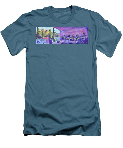 Thin Air At Dillon Amphitheater Men's T-Shirt (Slim Fit) by David Sockrider