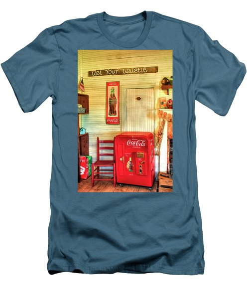 Thirst-quencher Old Coke Machine Men's T-Shirt (Slim Fit) by Reid Callaway