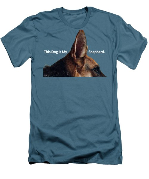 This Dog Is My Shepherd Men's T-Shirt (Slim Fit) by Jim Pavelle