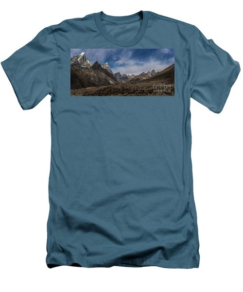 Men's T-Shirt (Slim Fit) featuring the photograph Thokla Pass Nepal by Mike Reid