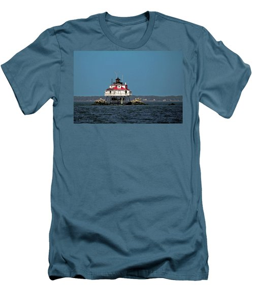 Thomas Point Shoal Light Men's T-Shirt (Slim Fit) by Sally Weigand