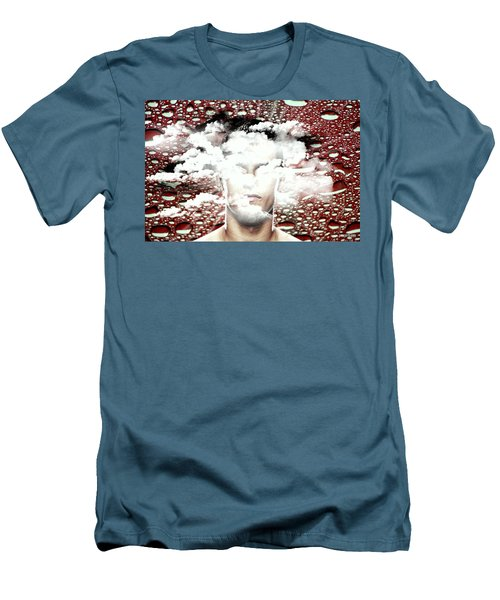 Thoughts Are Like Clouds Passing Through The Sky Men's T-Shirt (Slim Fit) by Paulo Zerbato
