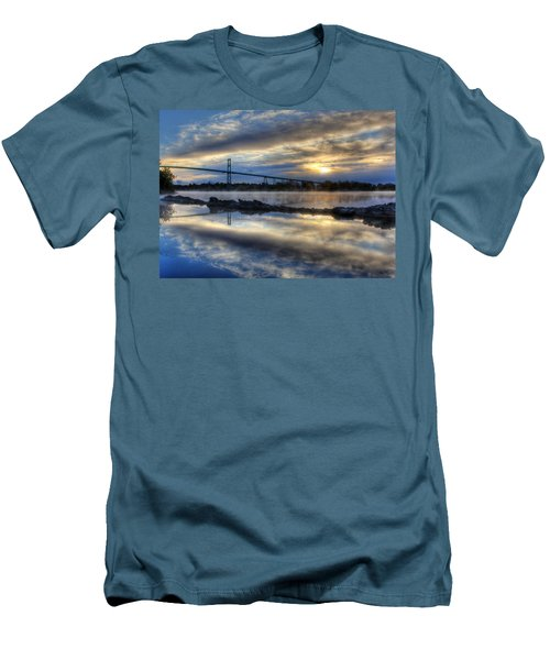 Thousand Islands Bridge Men's T-Shirt (Athletic Fit)
