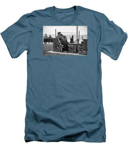 Men's T-Shirt (Slim Fit) featuring the photograph Three Laguna Lifestyles by Vinnie Oakes