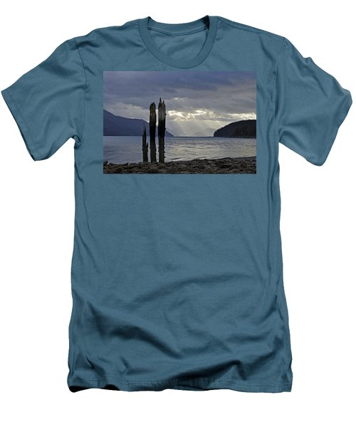 Three Remain Men's T-Shirt (Slim Fit) by Cathy Mahnke