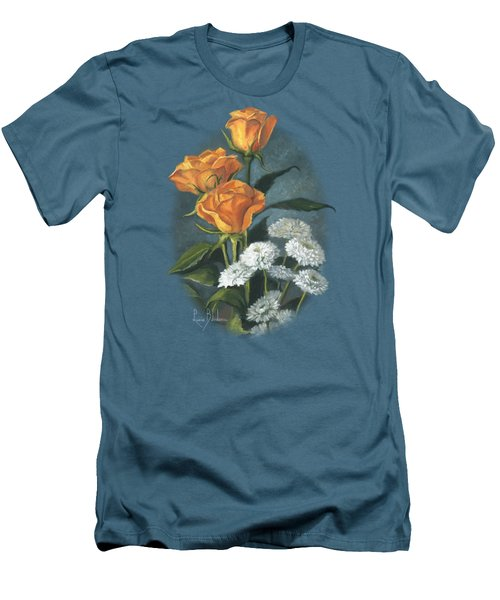 Three Roses Men's T-Shirt (Slim Fit) by Lucie Bilodeau