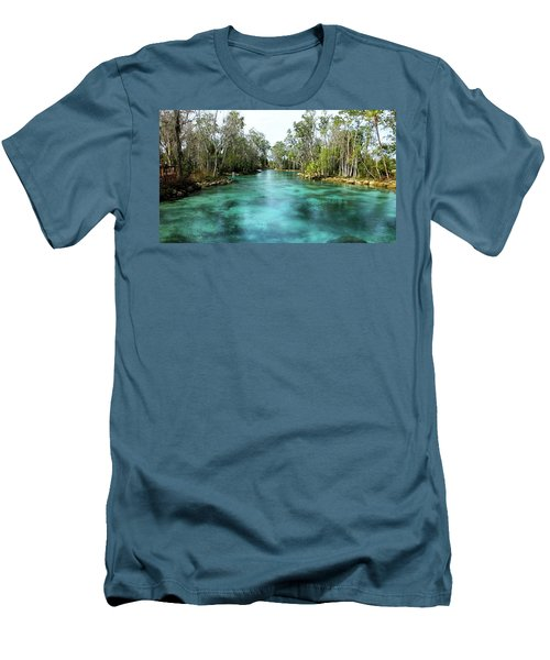 Three Sisters Springs Long View Men's T-Shirt (Athletic Fit)