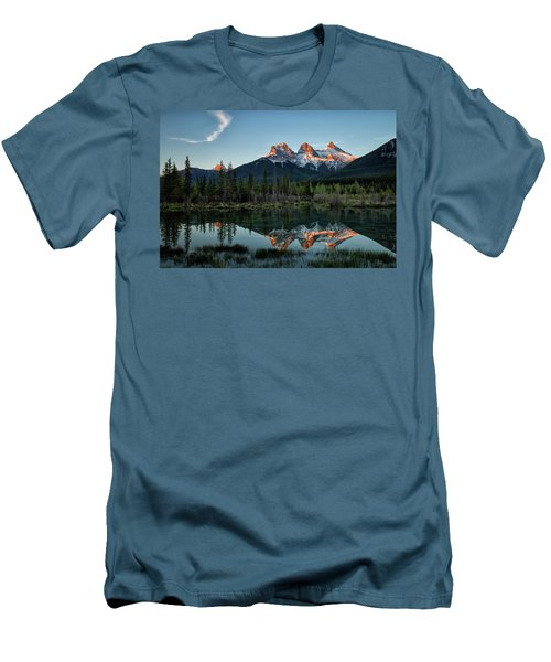 Three Sisters Sunrise Men's T-Shirt (Athletic Fit)