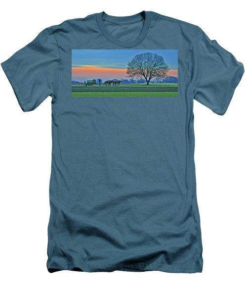 Through The Fields Men's T-Shirt (Slim Fit) by Scott Mahon