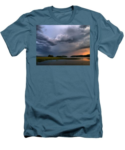 Men's T-Shirt (Slim Fit) featuring the photograph Thunder At Siuro by Jouko Lehto