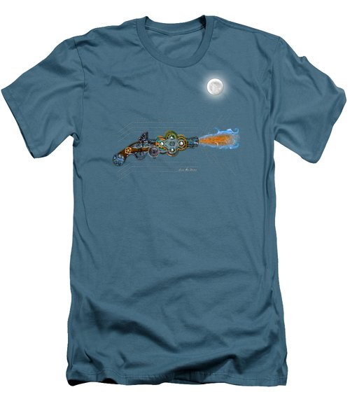 Men's T-Shirt (Slim Fit) featuring the digital art Thunder Gun Of The Dead by Iowan Stone-Flowers
