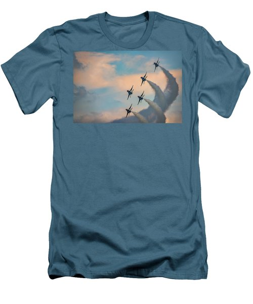 Men's T-Shirt (Athletic Fit) featuring the photograph Thunderbirds by Rick Berk